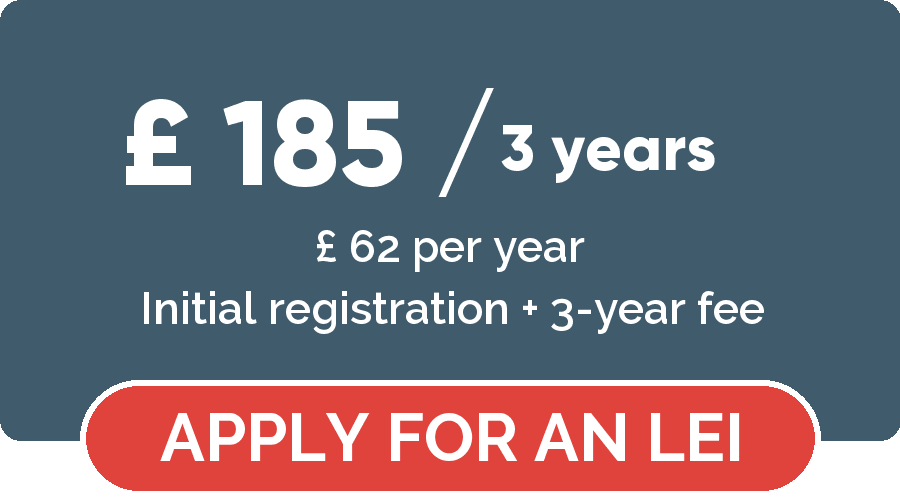 LEI number application - Apply for a LEI number for 3 years